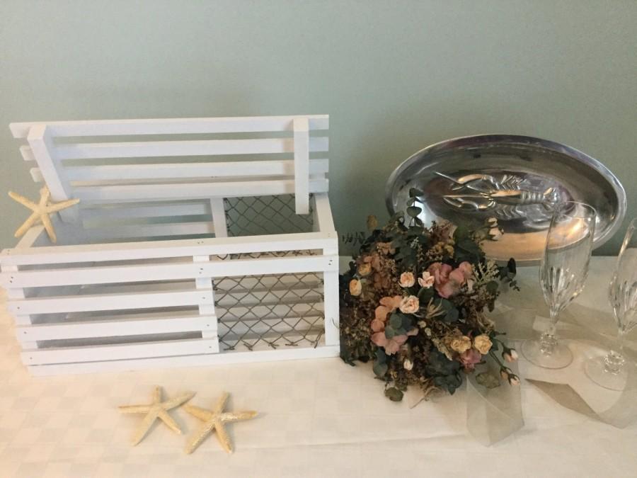Hochzeit - Maine Lobster Trap Card/Gift Box - White
