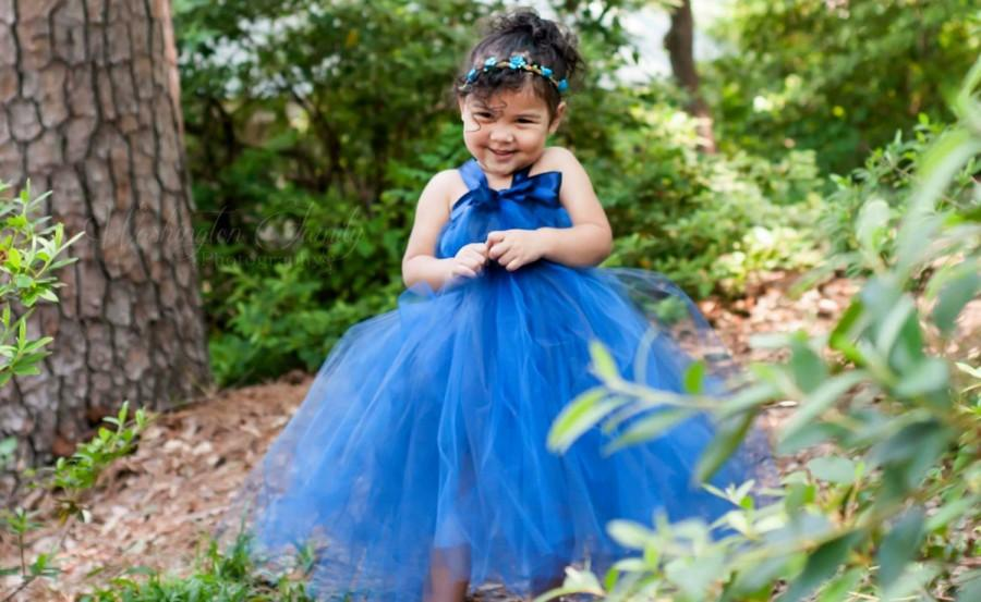 Royal Blue Flower Girl Dress Girls Party Dress Flower Girl Tutu Dress Tulle Flower Girl Dress Blue Bridesmaid Dress Occasion Dresses 2707685 Weddbook