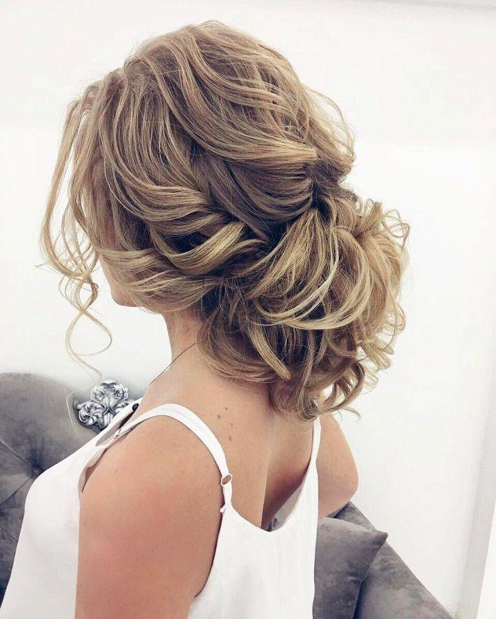 زفاف - Beautiful Messy Updo Wedding Hairstyle For Romantic Brides