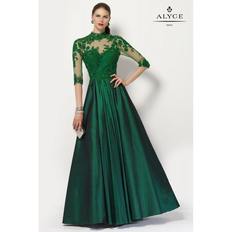 Nozze - Alyce 27159 Evening Dress - Alyce Jean De Lys Social and Evenings Illusion, Sweetheart Ball Gown Long Dress - 2017 New Wedding Dresses