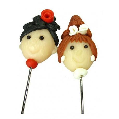 Wedding - Alfiler de pasta muñecas