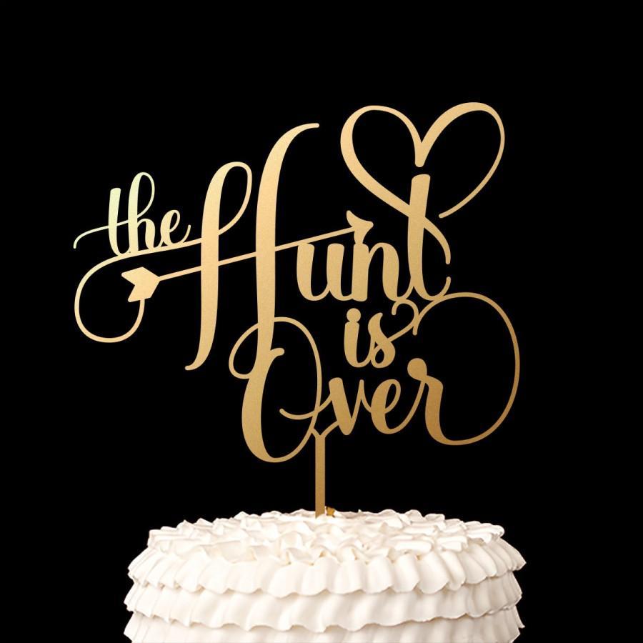 زفاف - Wedding Cake Topper - The Hunt is Over - Classic Collection