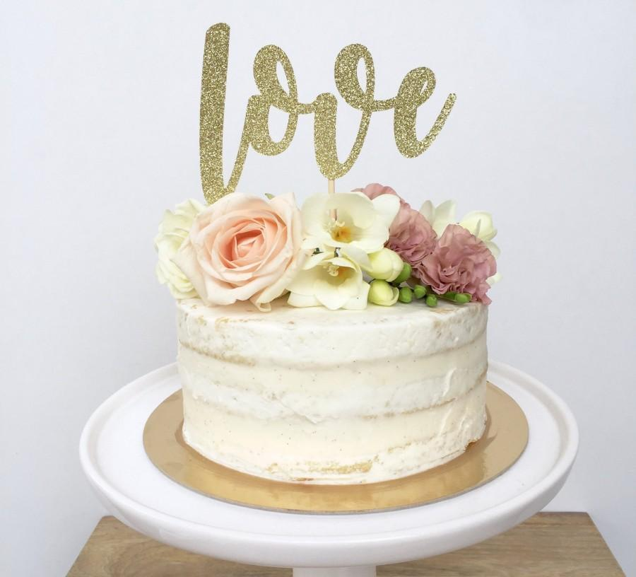 Glitter Love Cake Topper For Wedding Valentine S Day Baby Shower