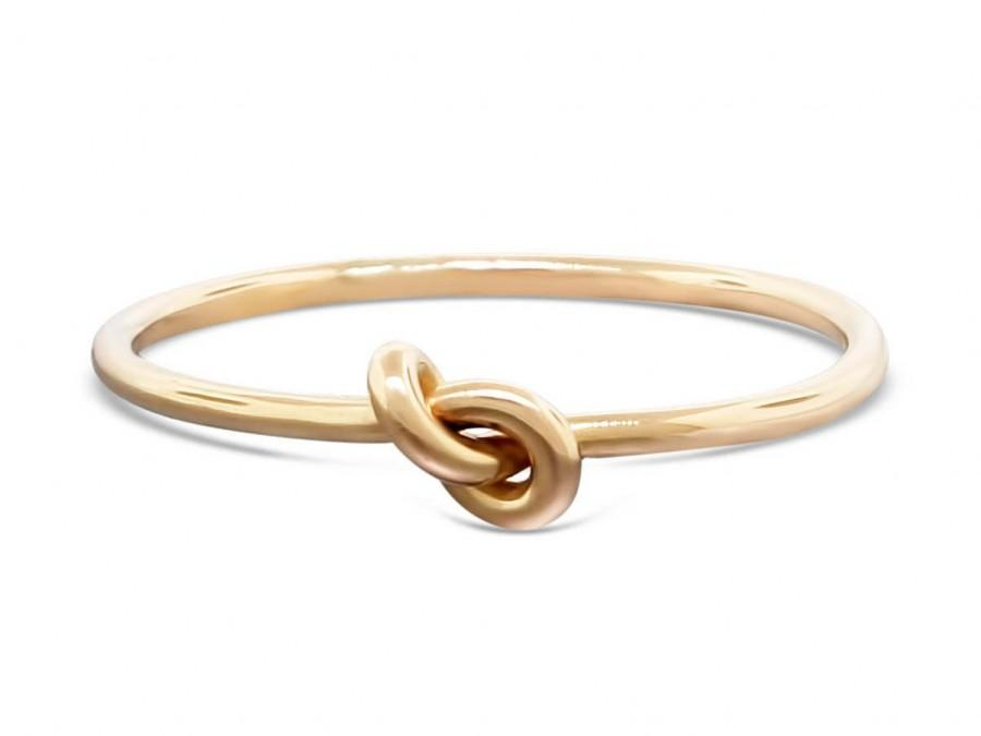 Свадьба - 14k gold ring, forget-me-knot ring, promise ring, purity ring, love knot ring, infinity ring, commitment ring, 16 gauge