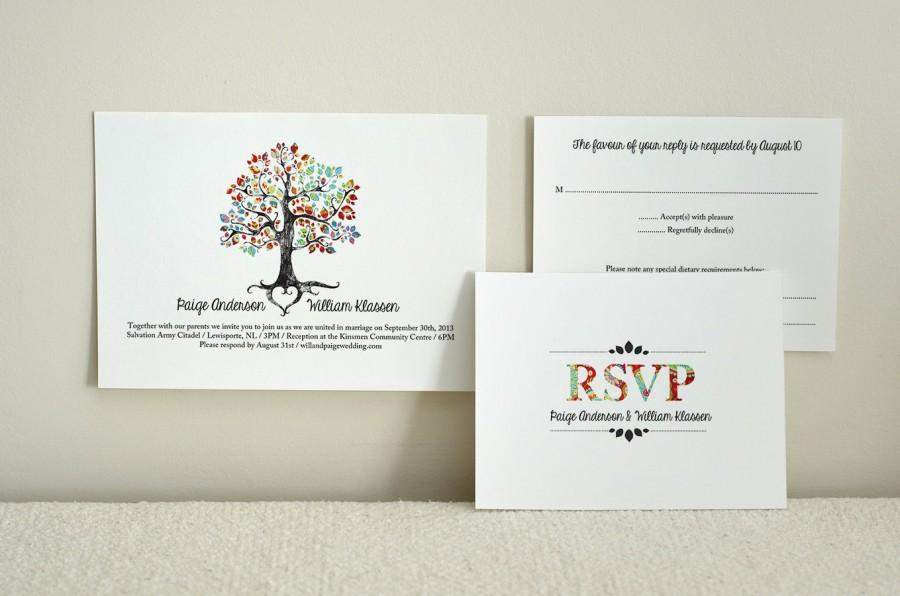 زفاف - The Bohemian Tree / Wedding Invitation & Reply / DIY Printable PDF Template