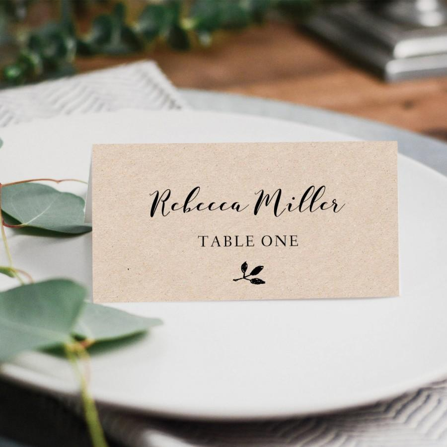 wedding table card template