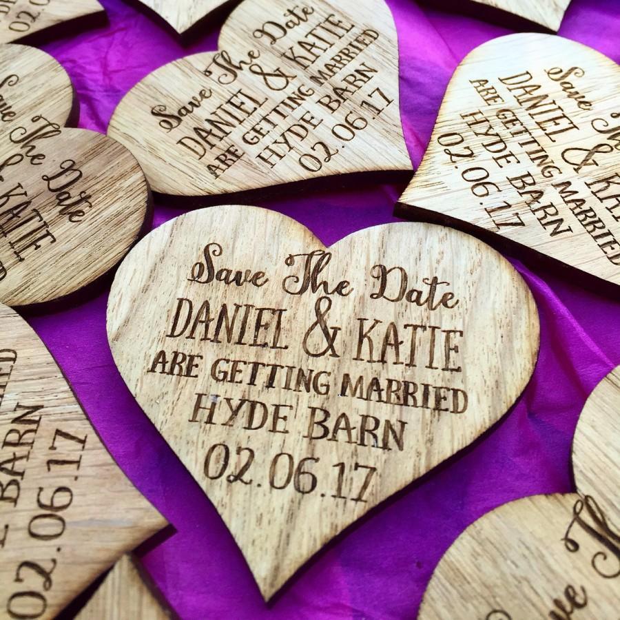 Wedding - Save The Date Heart - Rustic Wedding Announcement - Save The Date Magnet - Wooden Save The Date - Wedding Announcement - 06STD