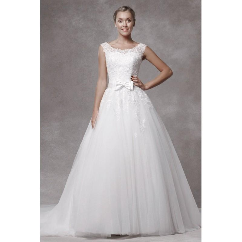 0a0c4975d Style 1700015 by LQ Designs - Ivory White Lace Tulle Floor Sweetheart  Scooped Ballgown Capped Wedding Dresses - Bridesmaid Dress Online Shop