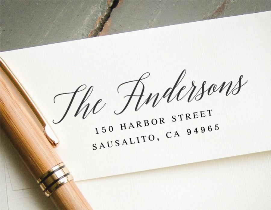 Свадьба - Return Address Stamp, Self Inking Address Stamp, Address Stamp, Wedding Address Stamp, Custom Address Stamp, Calligraphy Address Stamp