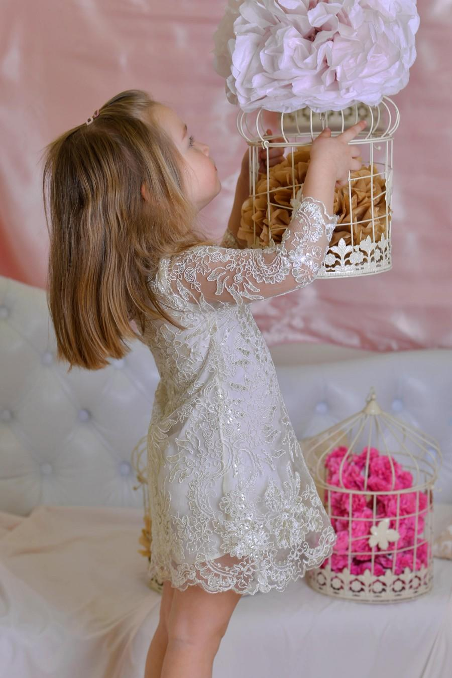 Long sleeve bridesmaid dress floral embroidery lace attending long sleeve bridesmaid dress floral embroidery lace attending wedding dress lace toddler maid of honor dress sequins bridesmaid gown lace ombrellifo Images