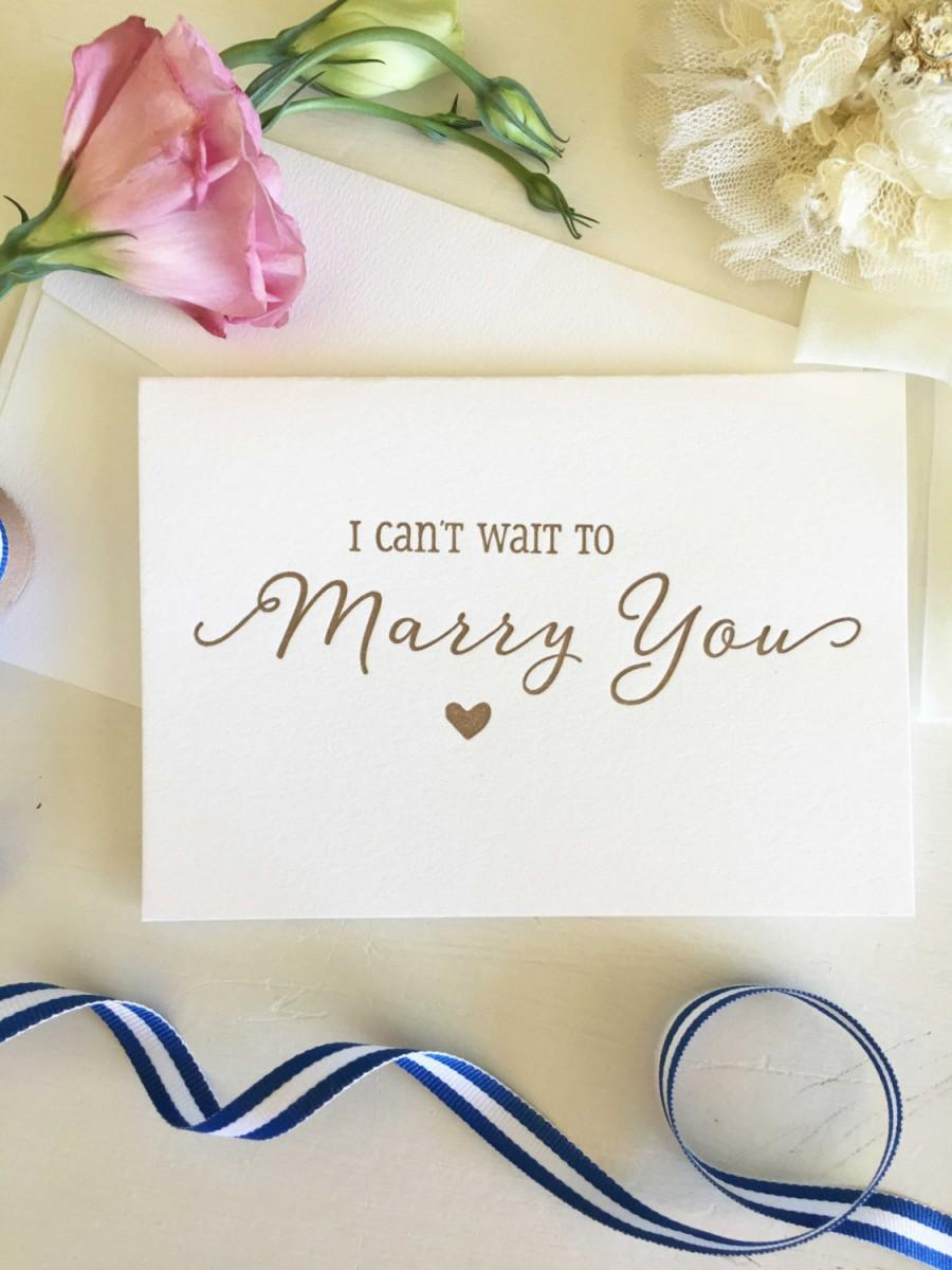 Свадьба - Bride To Groom Card - I Can't Wait To Marry You Card - Groom Gift From Bride - Groom To Bride Card - Wedding Cards - Groom Card - Bride Card