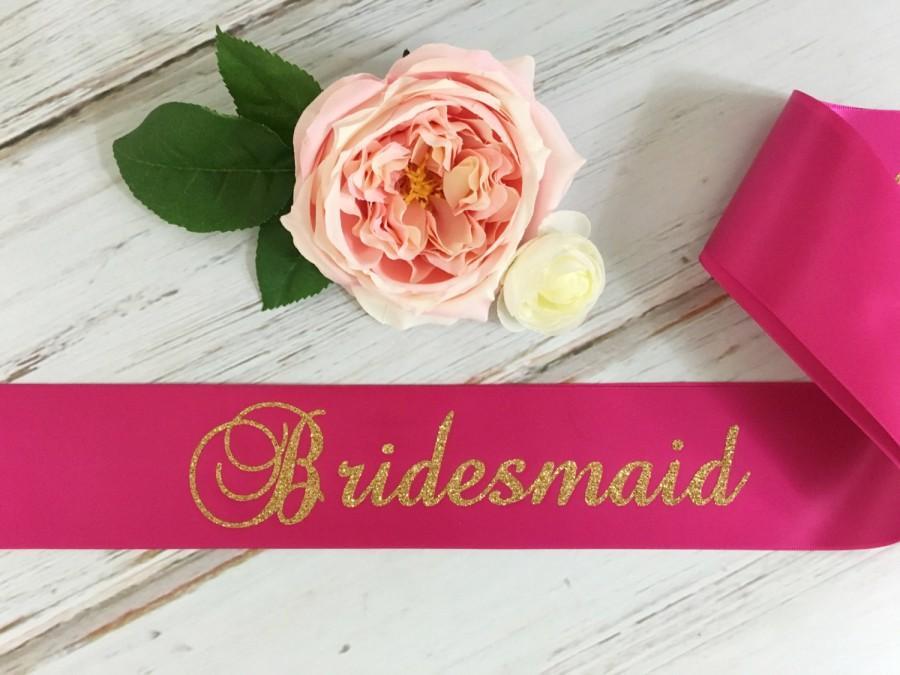 زفاف - Bridesmaid Sash, Bridal Sash, Bridal party sash, Bachelorette Party Sash, Engagement Party Sash, Bridal Shower Sash, Bridal Party Gift