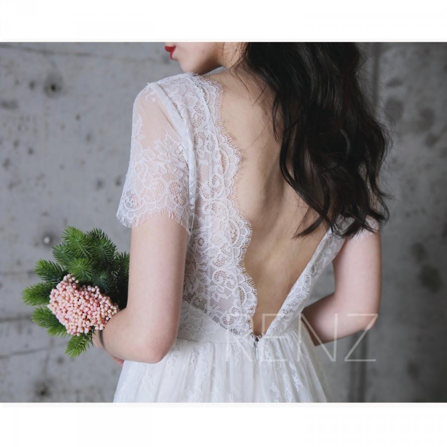 ec9a05a1de0 2017 Off White Lace Bridesmaid Dress