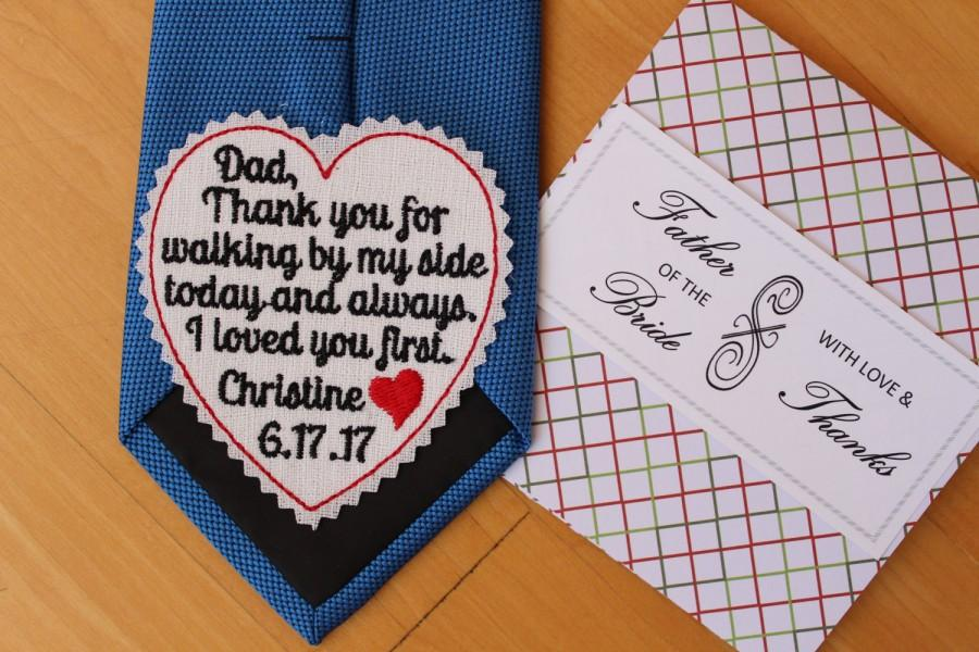 زفاف - Father of the Bride Tie Patch, gift wrap, tie label, wedding gift for dad, Beautiful Monogrammed Tie Patches. Father of the Bride Gift. TS3