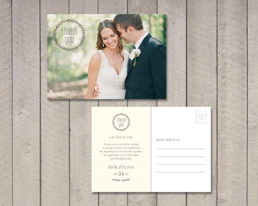 Hochzeit - Wedding Thank You Card (Printable) by Vintage Sweet
