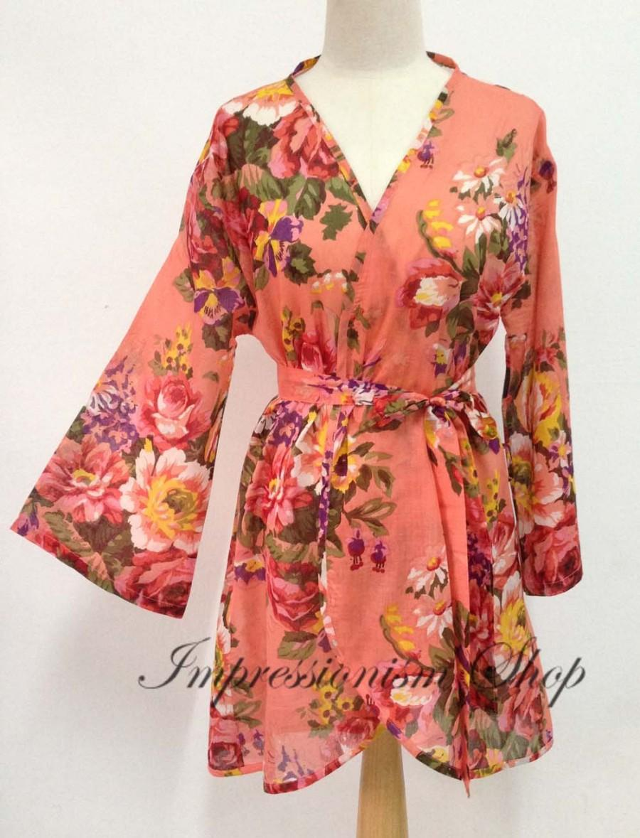 Coral Bridal Robes, Vintage Style Robes, New Classic Robe, Brildal ...