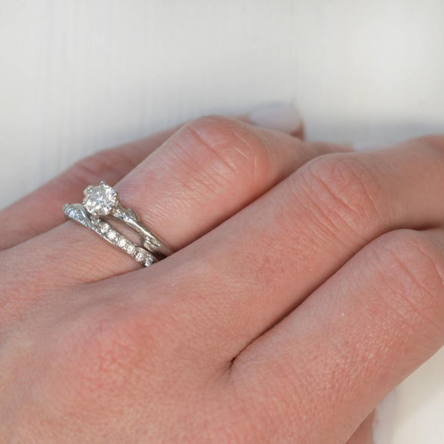 Diamond Eternity Wedding Ring Twisted Half Eternity Twig Wedding