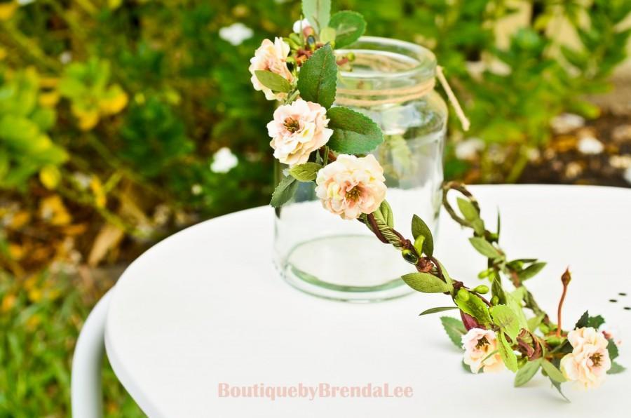 Wedding - Pom Pom Primroses Crown