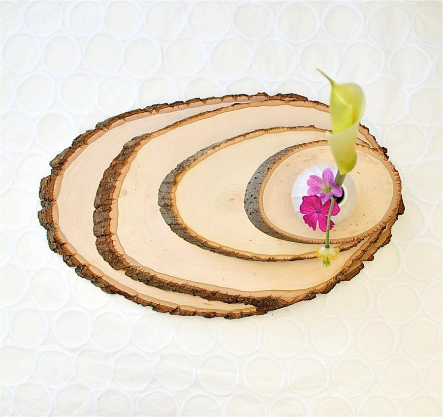 Hochzeit - Large Rustic Wood Tree Slice Centerpieces Wedding Decorations Wooden Rounds