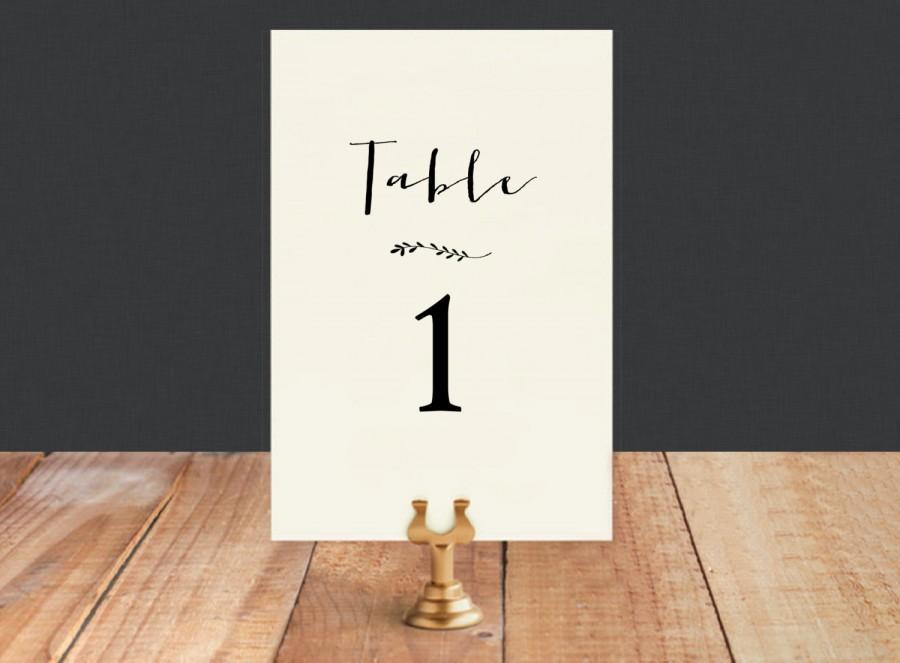 Mariage - Instant Download Printable Table Numbers-Table Numbers-DIY Template-Digital Calligraphy Template-Printable Table Numbers-#SN001_TN