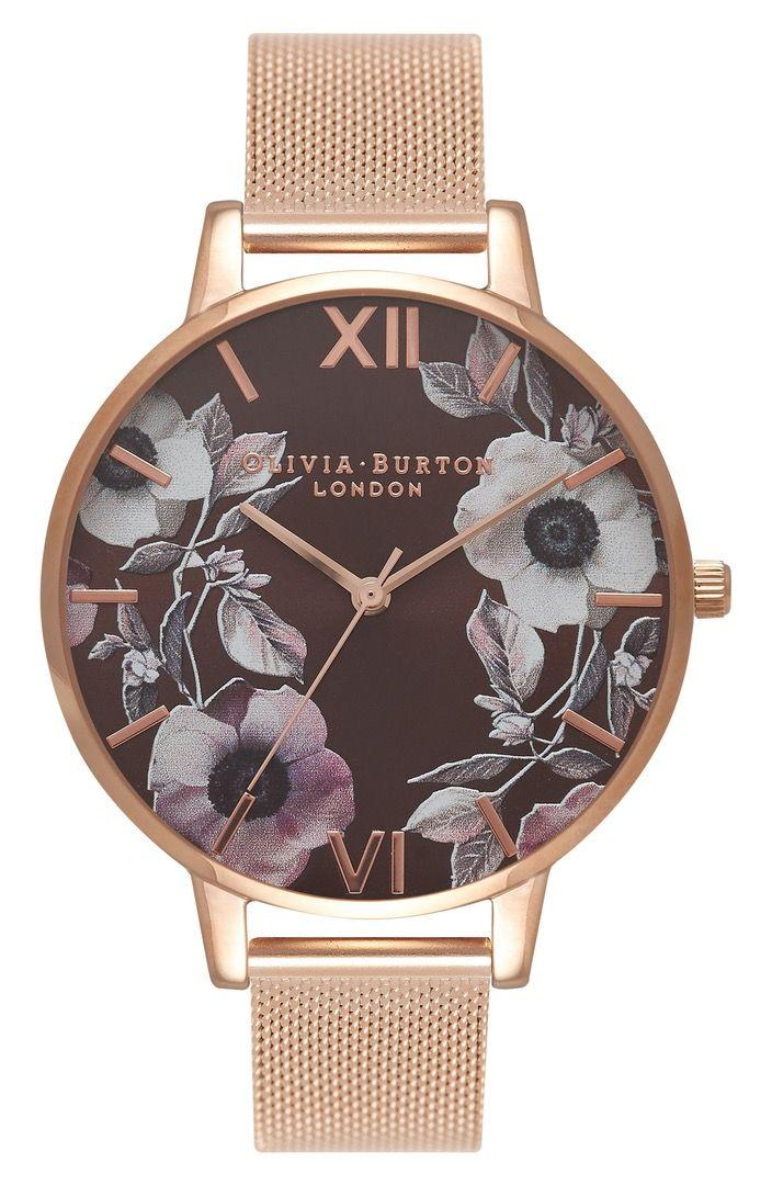 Wedding - Butterfly Wing Leather Strap Watch, 38mm