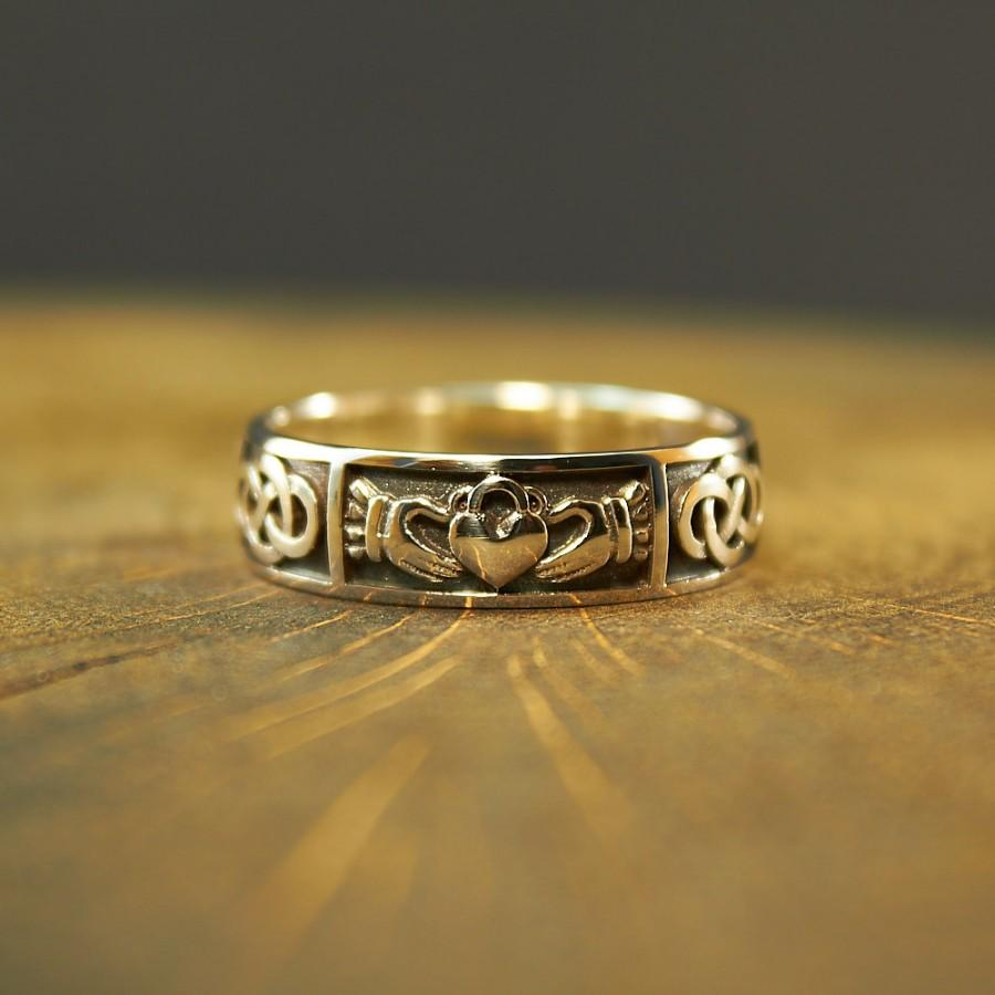 Wedding - Claddagh Ring Sterling Silver, Promise Ring, Engagement Ring, Friendship Ring, Irish Ring, Claddagh Ring Men, Ladies Claddagh Ring, Claddagh