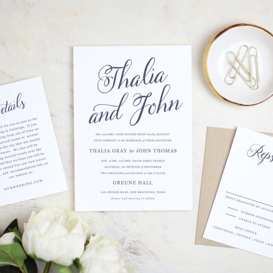 Mariage - Printable Wedding Invitation Template