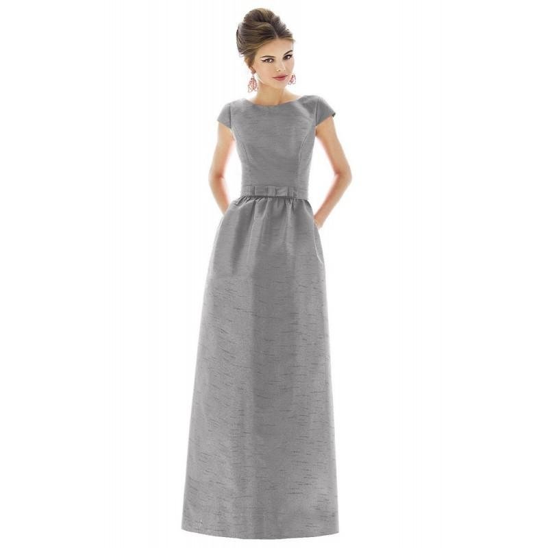 Mariage - Alfred Sung D569 Dupioni Long Bridesmaid Dress - Sleeveless, V Neck Dupioni Long Alfred Sung Natural Waist Bridesmaids Dress - 2017 New Wedding Dresses
