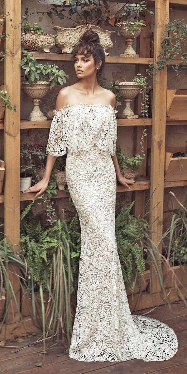 Mariage - 24 Romantic Off The Shoulder Wedding Dresses