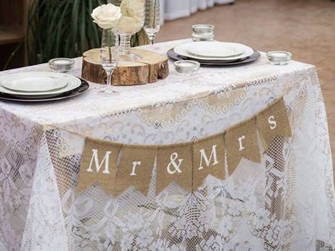 Mariage - Mr & Mrs Banner, Mr and Mrs Bunting, Wedding Banner, Wedding Photo Prop, Love Banners, Rustic Wedding, Wedding Bunting