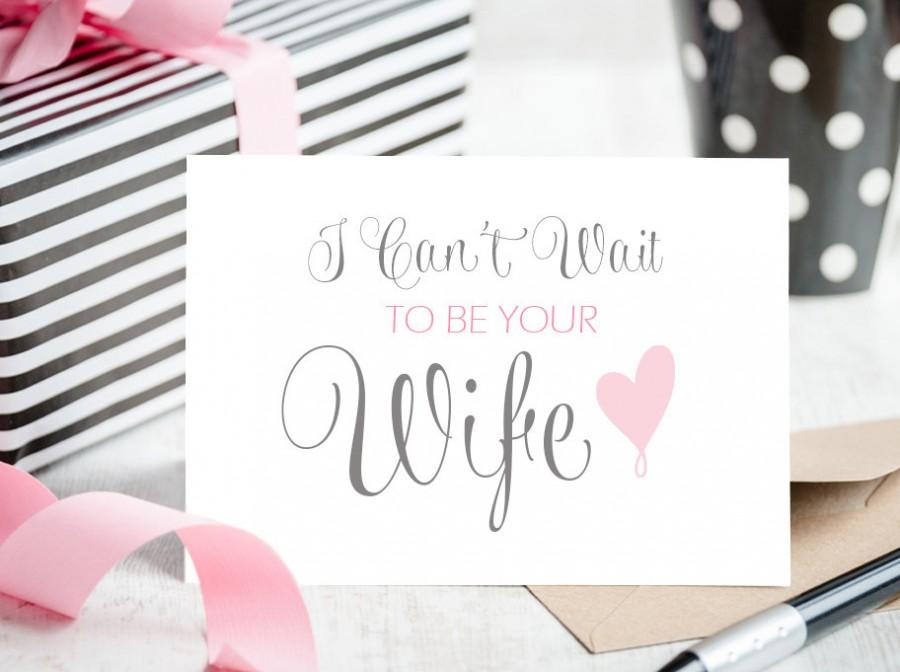 I Can t Wait to be Your Wife Wedding Card   Blank Inside for Personal  Message to your Husband to Be. I Can t Wait To Be Your Wife Wedding Card   Blank Inside For