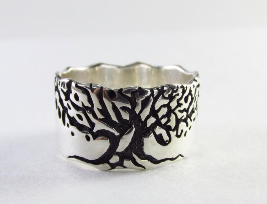 Tree Ring Men Engagement Band Tree Wedding Ring Tree Of Life Ring