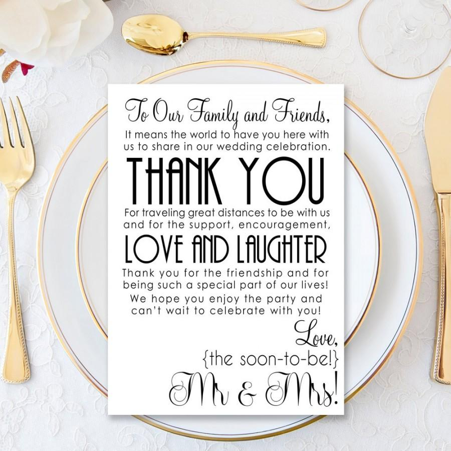 زفاف - Wedding Thank You Letter Printable, Wedding Printable, Printable Wedding Thank You, Welcome Letter, Instant Download, Reception