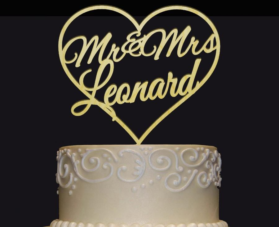Свадьба - MR-MRS NAME Personalized  Cake Topper - Wedding - Anniversary - Valentine Day Cake Topper - Wedding Keepsake - Photo Prop - Rustic Chic