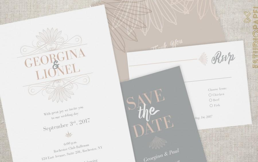 photo regarding Printable Invitation Kit titled Printable Wedding ceremony Fastened - No. 6 - Marriage ceremony Invitation Package