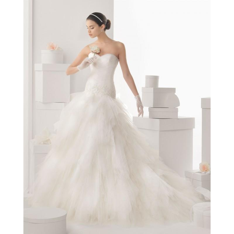 Mariage - Charming Trumpet/Mermaid Sweetheart Lace Sequins Sweep/Brush Train Tulle Wedding Dresses - Dressesular.com