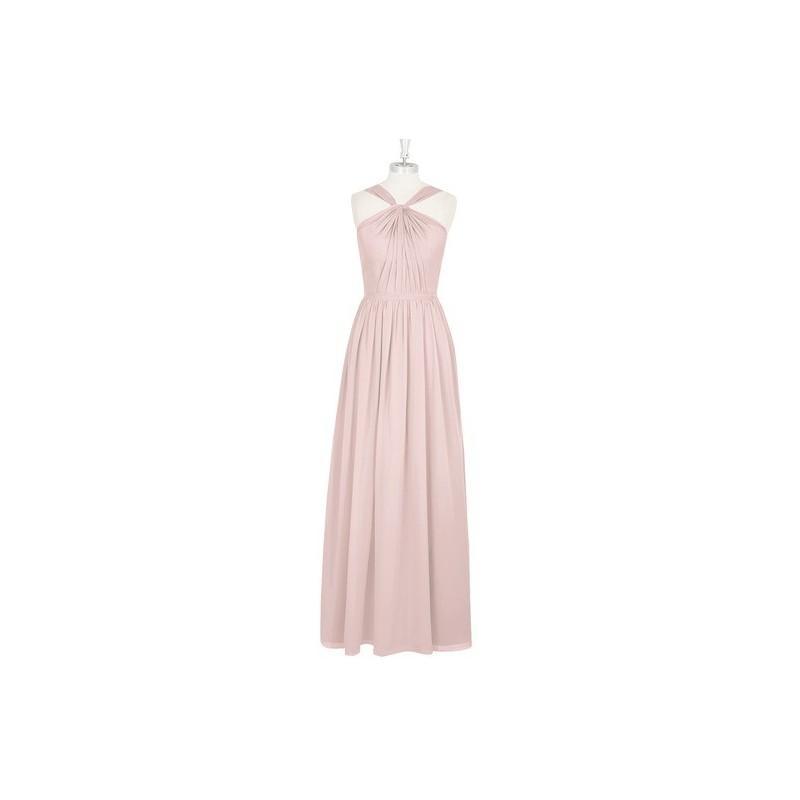 Hochzeit - Dusty_rose Azazie Jacey - Chiffon V Neck Back Zip Floor Length Dress - Cheap Gorgeous Bridesmaids Store