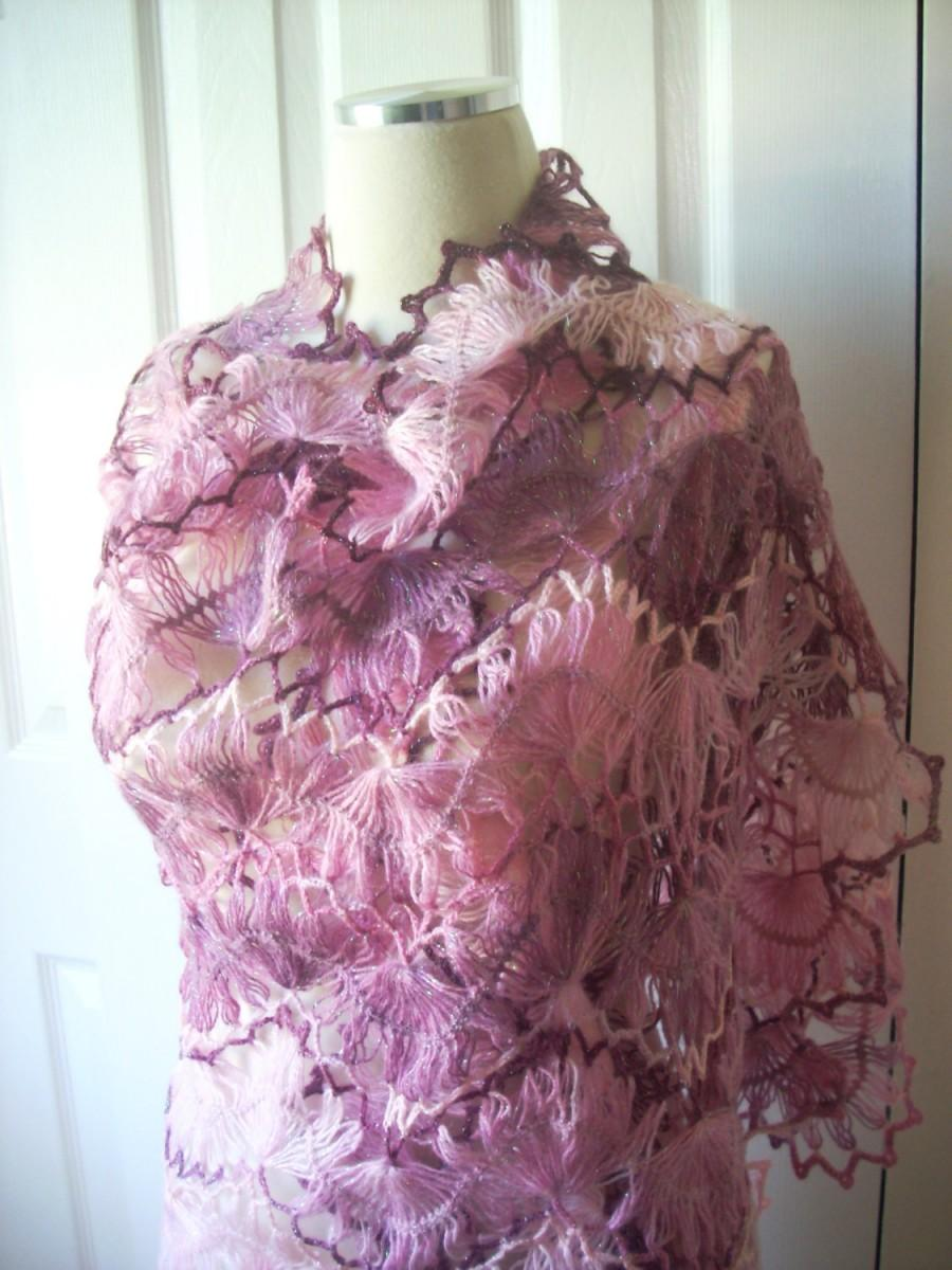 Свадьба - Valentines day gift, Wedding shawl mohair crochet shawl scarf wrap gift ideas women accessories, rectangle shawl, fashion handmade special