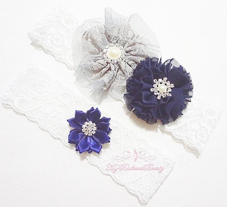 زفاف - Bridal Garter, Wedding Garter, Sexy Garter, Crystal Flower Garter, Bridal Flower Garter, Handmade Custom Garter, Beaded Garter GTF0004NB