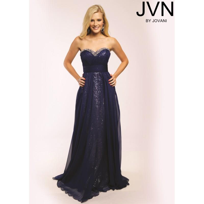 Wedding - JVN by Jovani JVN21402 Shimmery Evening Gown - 2017 Spring Trends Dresses