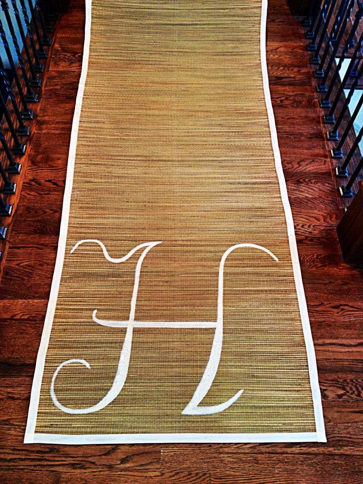 Hochzeit - CUSTOM Bamboo Aisle Runner - FREE SHIPPING - Perfect for Beach, Country-themed, Tropical Weddings & Parties