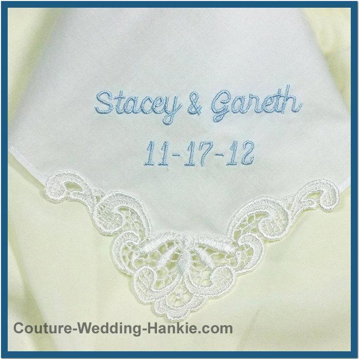 Mariage - Personalized Wedding Handkerchief