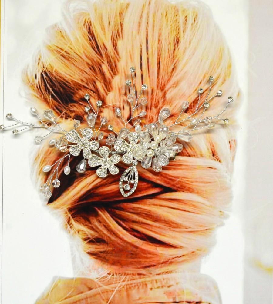 Hochzeit - Cannes Bridal Hair Comb, Wedding Hair Accessories, Wedding Hair Comb, Pearl and Crystal Hair Comb, Hair Pin, Wedding Headpiece, Bridal Hair