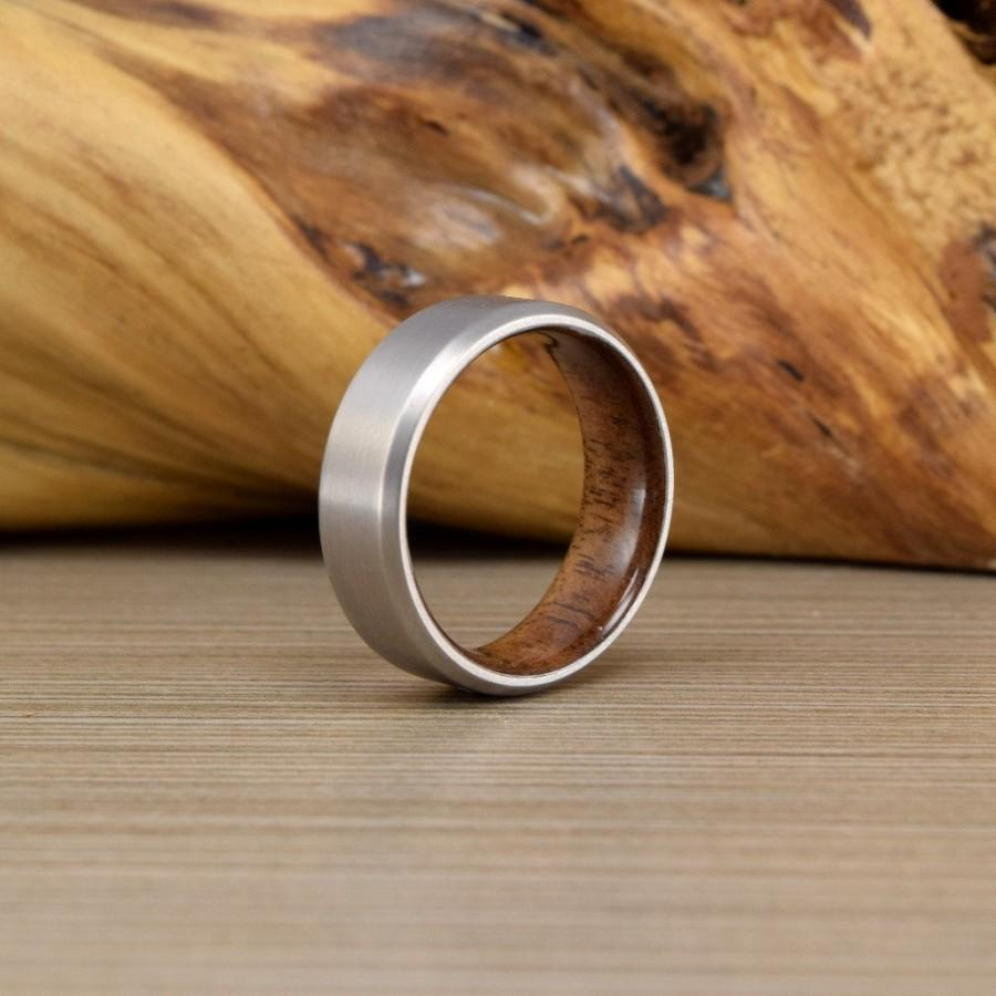 Wedding - Titanium & American Black Walnut Ring // Men's Wedding Ring // Men's Wedding Band // Women's Wedding Ring //Men's Ring // Wedding Band