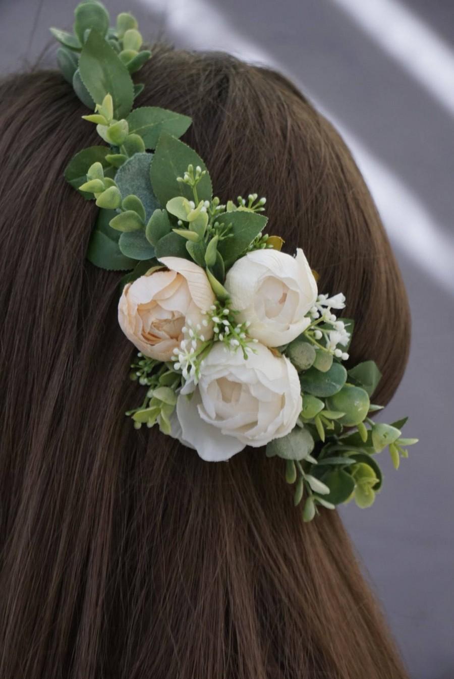Flower crown flower crown wedding greenery headband bridal flower flower crown flower crown wedding greenery headband bridal flower crown blush floral crown izmirmasajfo