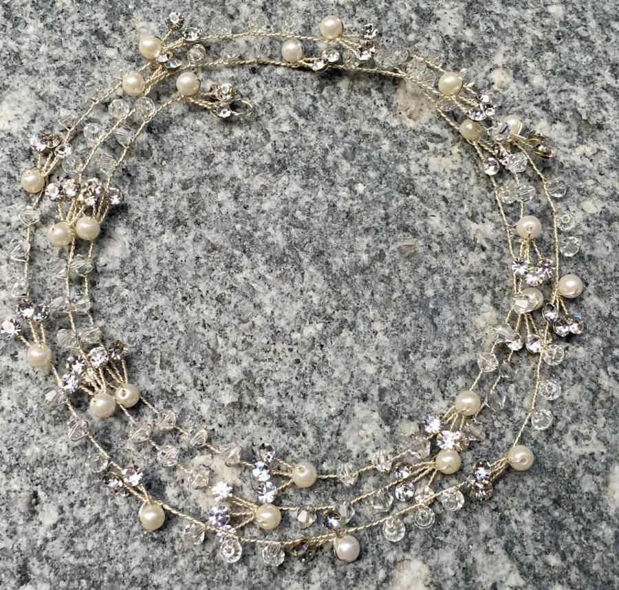 Mariage - Silver Bridal Hair Vine