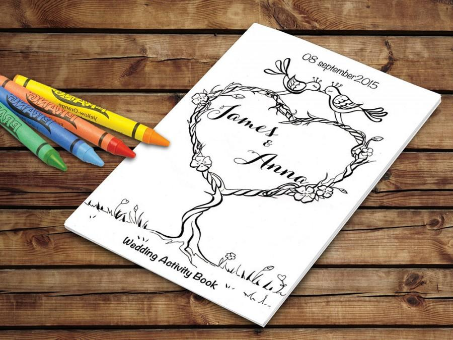 - Kids Wedding Activity Book Printable - Wedding Printable Coloring Pages -  Personalized PDF Template #2710562 - Weddbook