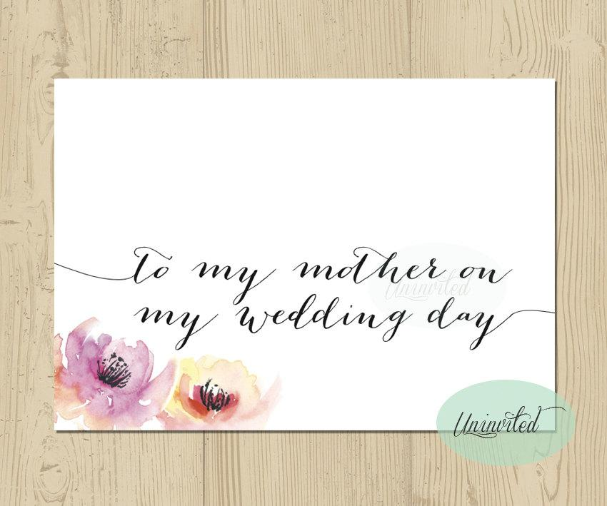 To My Mom On Wedding Day Card Instant Mother Thank You