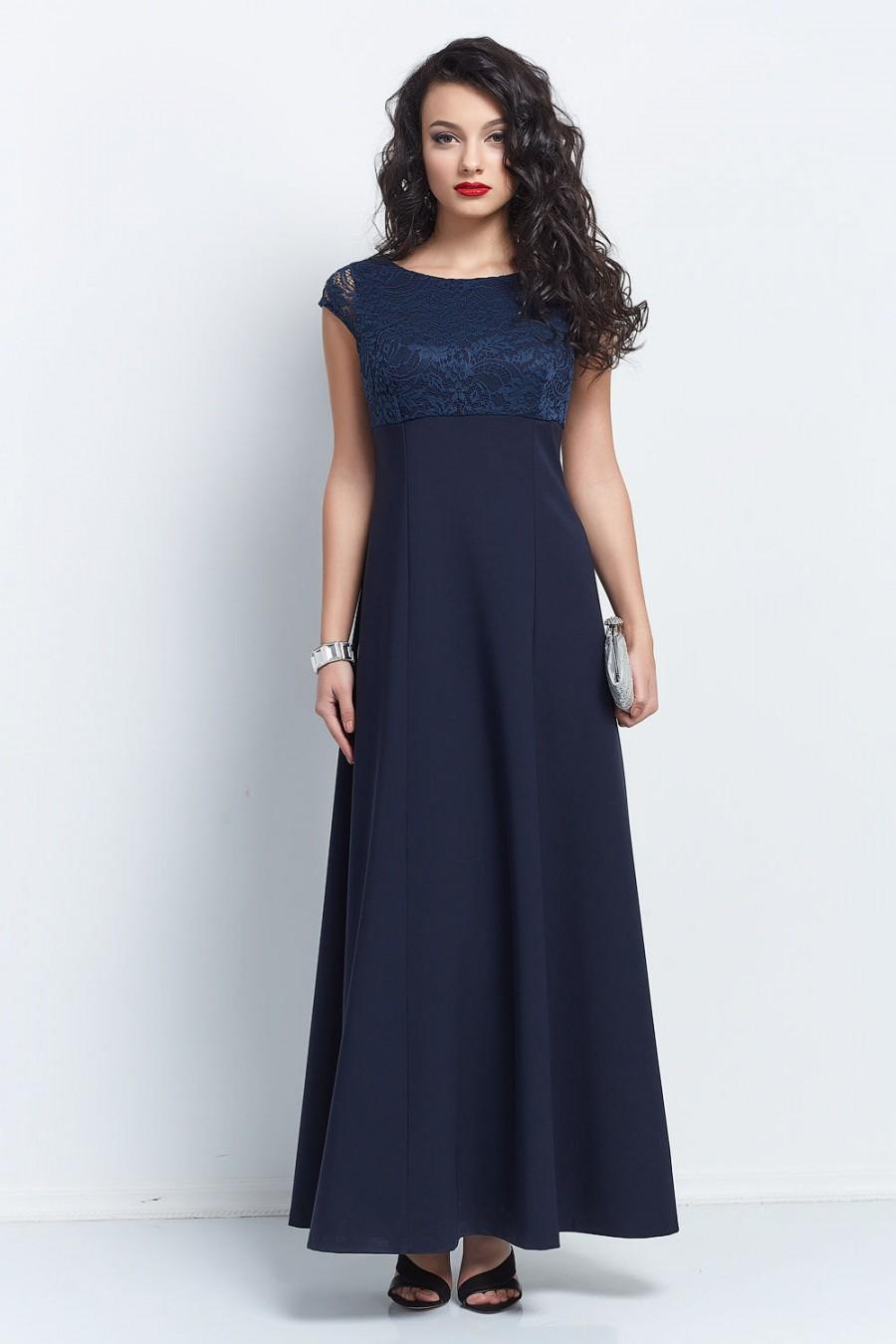 Look - Navy long blue bridesmaid dresses with sleeves video