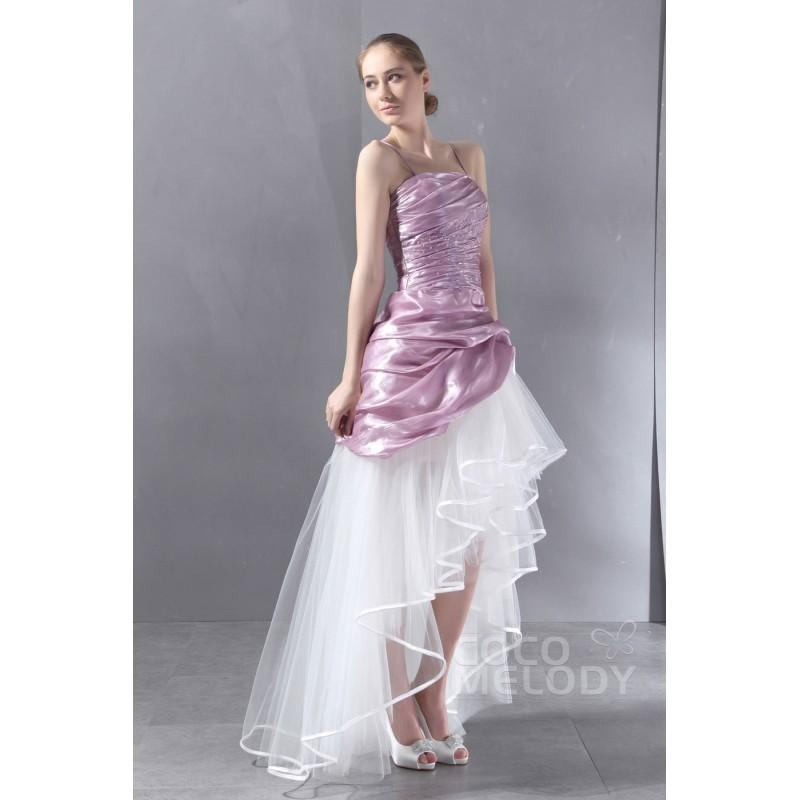Wedding - Chic A-Line Spaghetti Strap High-Low Ice Tulle Wedding Dress CWLH13003 - Top Designer Wedding Online-Shop